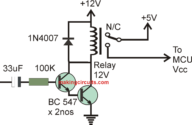 simple delay OFF timer circuit