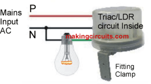 Day Night Activated Triac Switch Circuit