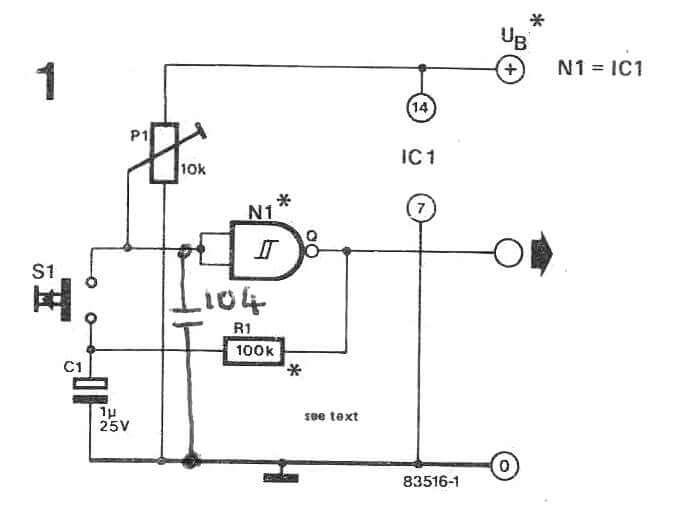 push off switch using schmitt trigger