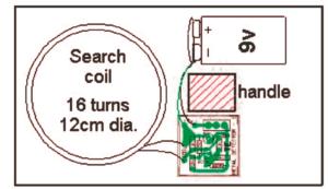 Metal Detector Circuit using Single Transistor – Tutorial