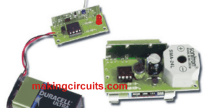Anti-Theft Tracker Alarm Circuit for Protecting valuable