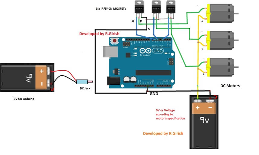 wireless dc motor speed control using arduino