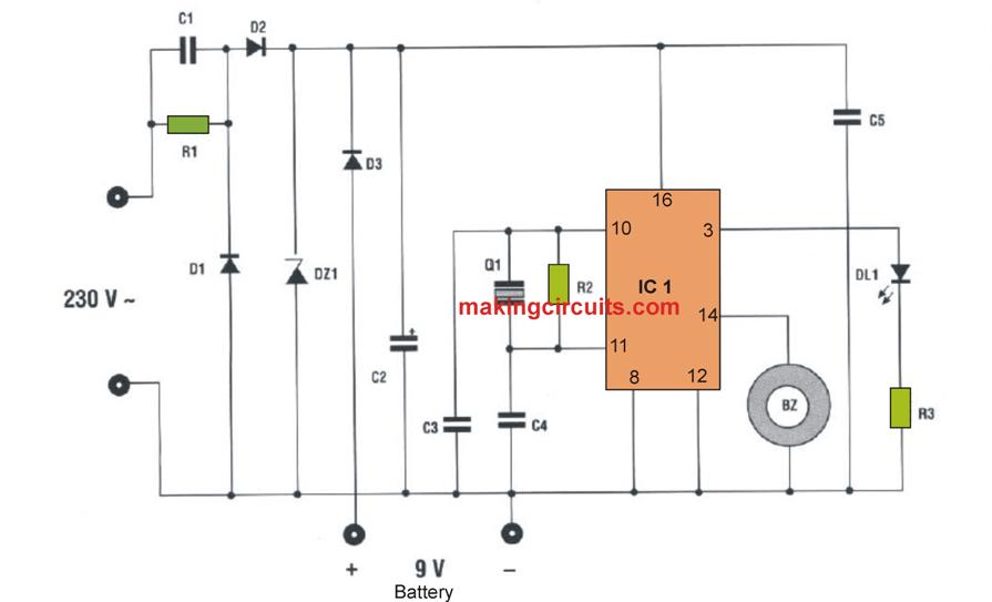 Quartz Mosquito Repellent using a single IC4060