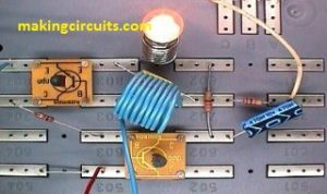 Wireless Lamp using an RF Disturbance Circuit