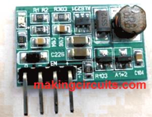 3V to 12V Transistor Boost Converter Circuit