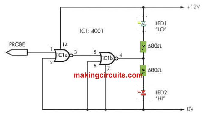 test logic with this logic probe circuit