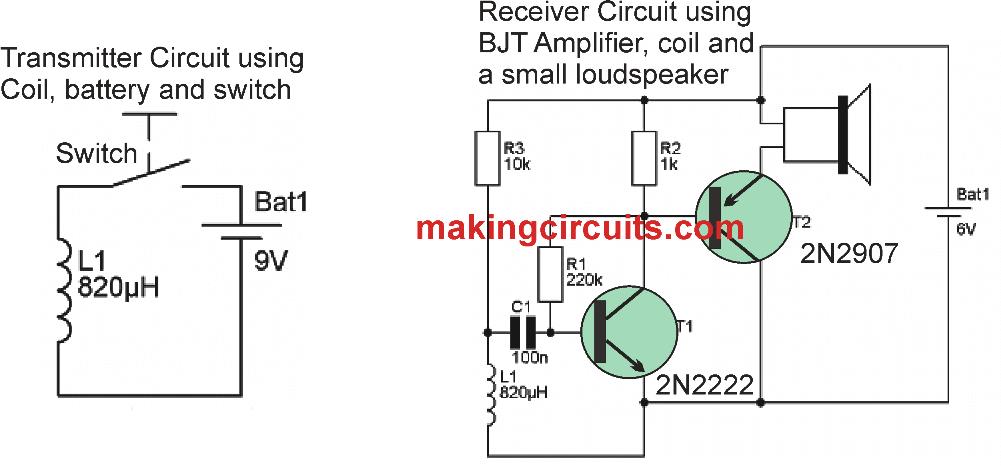 RF activated wireless speaker circuit