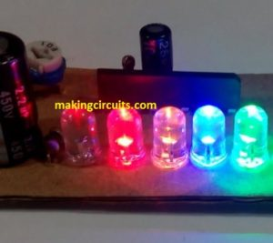 Simple 5 LED Music Level Indicator using a single IC