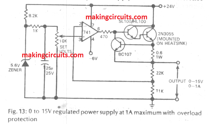 20 Best IC 741 based DIY Circuits