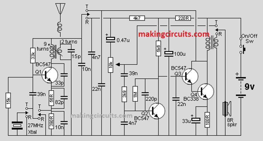 walkie talkie circuit