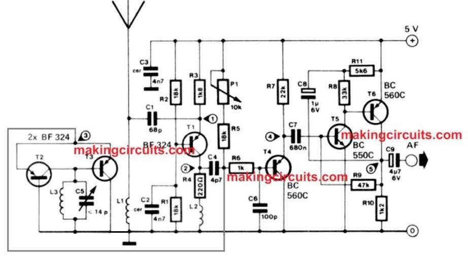 simplest fm radio circuit with high reception quality